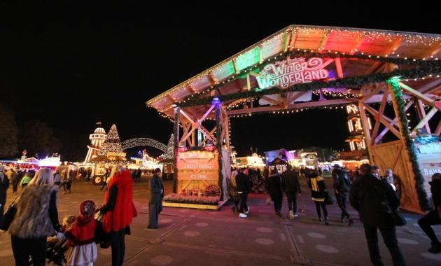 Entrance to Winter Wonderland in London's Hyde Park