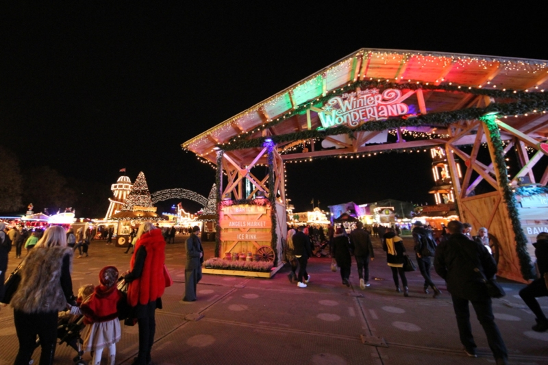 Entrance to Winter Wonderland in London's Hyde Park