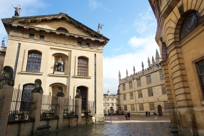 Photo of buildings and blue skies in Oxford